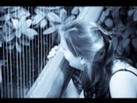 Melanie Jones plays the harp with Anne for weddings and recitals